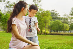 Asian mom with son Stock Photo