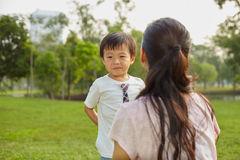 Asian mom with son Royalty Free Stock Photography