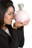 Asian Money Woman Royalty Free Stock Photos