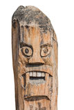 Asian Monster pole. Old art create of wood Stock Image