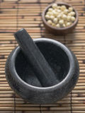 Asian mortar and pestle Stock Photography