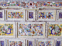 Asian mosaic ornament with dragon Stock Images