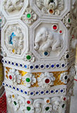 Asian mosaic ornament on the temple column Royalty Free Stock Photography