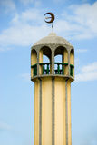 Asian mosque minaret. Minaret of a Southeast Asian islamic mosque in Davao City, Mindanao, Philippines Royalty Free Stock Photography