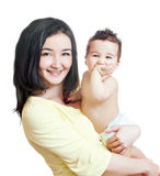 Asian mother and baby-boy Royalty Free Stock Image