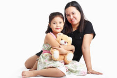 Asian Mother And Daughter Stock Photos