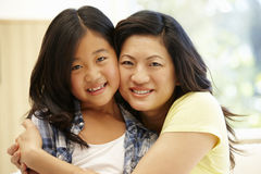 Asian mother and daughter Stock Images