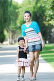 Asian mother and daughter having fun Royalty Free Stock Photo