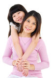 Asian mother and daughter Royalty Free Stock Photos