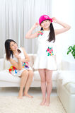 Asian mother and daughter Royalty Free Stock Image