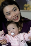 Asian Mother and Daughter play Royalty Free Stock Photo