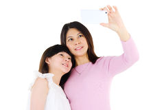 Asian mother and daughter Royalty Free Stock Photo