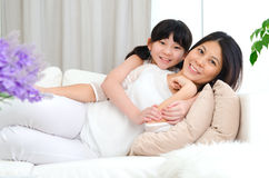 Asian mother and daughter Royalty Free Stock Photography