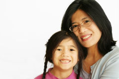 Asian mother with her daughter Stock Photo