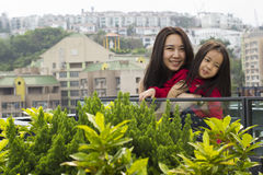 An asian mother and her daughter Royalty Free Stock Photo