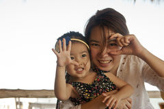 Asian mother and her daughter. Shot of asian mother and her daughter Stock Photography