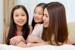 Asian mother and kids Stock Photography