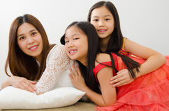 Asian mother and kids Royalty Free Stock Photography