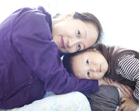 Asian mother and son Royalty Free Stock Photos