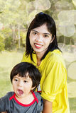 Asian mother and son Royalty Free Stock Images
