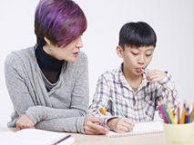 Asian mother and son Royalty Free Stock Photography