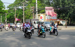 Asian motorbike crazy traffic on the street Stock Images