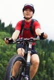 Asian mountain biker Stock Photo