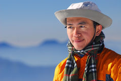Asian mountaineer. Royalty Free Stock Photos