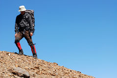 Asian mountaineer Stock Images