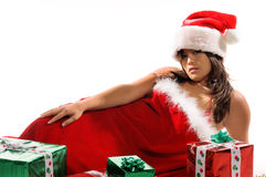 Asian Mrs Santa Stock Photo