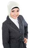 Smiling asian business woman in scarf Royalty Free Stock Image