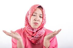 Asian muslim business women wearing hijab royalty free stock photography