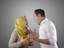 Free Asian Muslim Couple Having Fight Royalty Free Stock Photo - 160117365