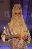 Asian Muslim Female Model at Fashion Show Stock Photography