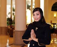 Asian muslim greeter