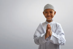 Asian muslim kid Royalty Free Stock Photography