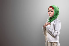 Asian muslim woman praying. Image of beautiful asian muslim woman praying Stock Photography