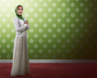 Asian muslim woman praying. Image of beautiful asian muslim woman praying Royalty Free Stock Images