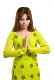 Asian Muslim woman wearing traditional clothes Royalty Free Stock Photo