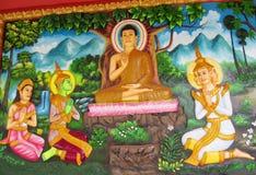 Asian mythological buddhist picture Royalty Free Stock Image