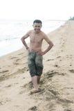 Asian na praia Imagens de Stock