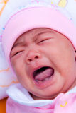 Asian new born crying Stock Photography