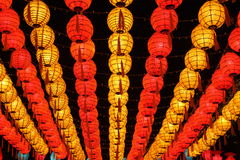 Asian new year's Lanterns. Beatiful asian lanterns show for tourist Stock Image