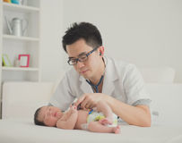 Asian newborn Stock Photos