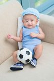 Young football player royalty free stock photos