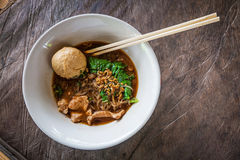 Asian noodle with blood soup Royalty Free Stock Images