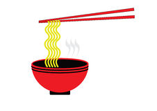 Asian noodle flat icon Royalty Free Stock Photo