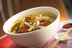 Asian noodle pan mee Stock Photos