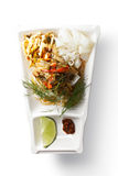 Asian noodle salad overhead Stock Image