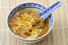 Asian Noodle Soup Stock Photo